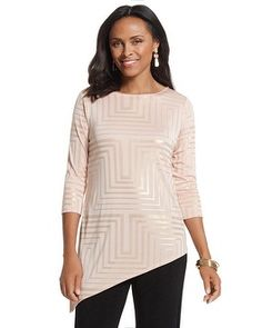 Chico's Travelers Sierra Shimmer Top #chicos