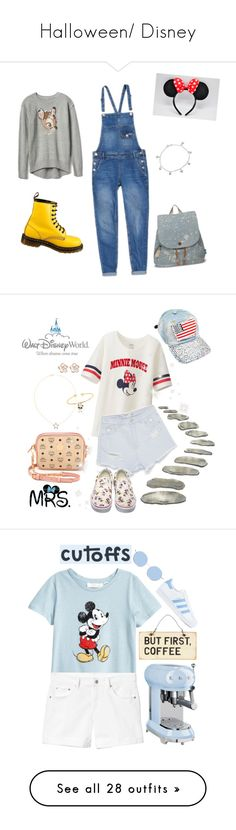 """""""Halloween/ Disney"""" by love-5h ❤ liked on Polyvore featuring Giani Bernini, Disney, Dr. Martens, Superdry, TOMS, cute, denim, disney, dayout and dungarees"""