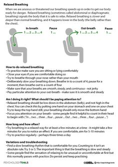 Worksheets for relaxed breathing: This is just one resource that will help me respond to and acknowledge the importance of mental literacy in my classroom. Relaxation techniques and de-stressing mechanisms like this benefit all students, whether they have mental health issues or not. I have experienced these techniques in my personal student life and they really help!