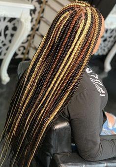 Box Braids Hairstyles For Black Women, Braids Hairstyles Pictures, Cute Braided Hairstyles, Dope Hairstyles, Black Girl Braids, Braided Hairstyles For Black Women, African Braids Hairstyles, Braids For Black Hair, Weave Hairstyles