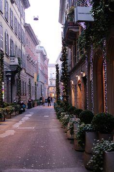 Via Santo Spirito. Milan, Italy