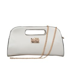 Cheap And Fashion Coach Bleecker In Saffiano Small White Crossbody Bags ELU Are Here!