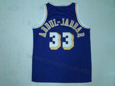 Los Angeles Lakers  33 Kareem Abdul-Jabbar Purple Hardwood Classic Jersey 04d4a40d8