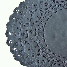 "CHARCOAL GRAY Paper Lace Doilies | 4"" 6"" 8"" 10"" Sizes 