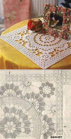 New crochet mandala pattern rug tutorials 48 Ideas Motif Mandala Crochet, Crochet Doily Diagram, Crochet Mandala Pattern, Crochet Chart, Crochet Squares, Thread Crochet, Crochet Patterns, Filet Crochet, Tatting Patterns