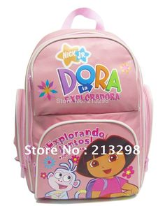 Find More School Bags Information about 2014 bag of the children school bag, Dora explorer backpack, pink backpack, cartoon bag for girl, knapsack FREE SHIPPING HS 28,High Quality School Bags from Culture Clubs on Aliexpress.com