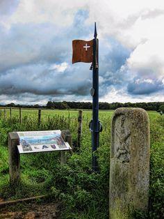 Lansdown, Cotswolds - Battle of Lansdown Battlefield Marker    The English Civil War battle of Lansdown was fought on 5 July 1643, near Bath, southwest England