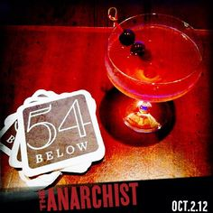 Feeling thirsty? Head on over to #54Below at 254 W. 54th St. and order The Anarchist, named in honor of the show! Cheers. #cocktail