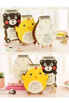 Cutest Spring Desk Calendar 2017 for kids, 2017 calendar stand, New year gift for kids gifts, Kids stationery, Cute stationary for girls kid