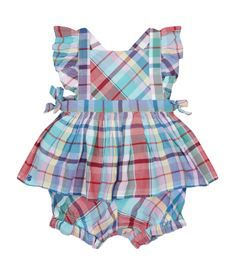 View the Plaid Pinafore Dress with Bloomers