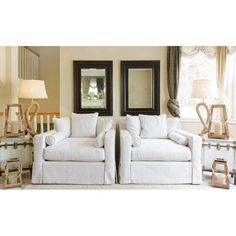 Have to have it. Elements Haley 2-Piece Fabric Collection Standard Chairs in Seashell - $1449.99 @hayneedle