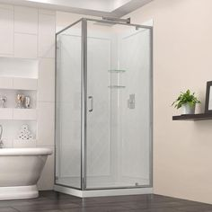 "DreamLine Flex 32""W x 32""D Shower Enclosure, Backwall, Base Kit"
