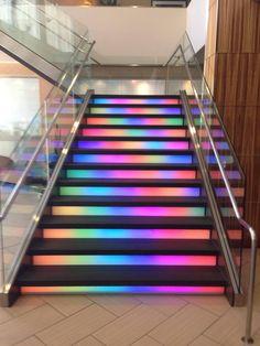 Tie dye stairs