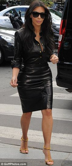 Stepping out: The reality TV star's knee-length skirt enabled her to show off the results of some of her recent gym work