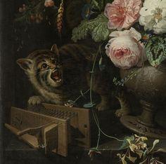 Abraham Mignon (Dutch, 1640 - 1679) - The overturned Bouquet (detail), 1660 - 1679. Rijksmuseum