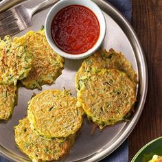 Golden Zucchini Pancakes Recipe from Taste of Home