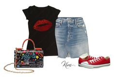 """Statement Bag"" by ksims-1 ❤ liked on Polyvore featuring GRLFRND, Dolce&Gabbana and Converse"