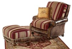 Crow's Nest Trading Co. Corsica chair and ottoman