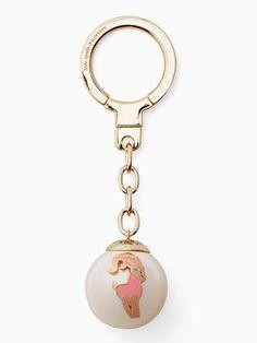 capricorn zodiac pearl keychain   Kate Spade New York