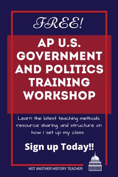 I am offering a FREE AP U.S. Government Training. I will go through how I structure my course, organize my classroom, and give away FREE AP U.S. Government materials. Sign up here #apgovernment #apgov #hsgovchat #notanotherhistorytecher