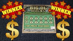 $50,000 Junior Big Ol' Bucks *WINNING TICKET* Nc Lottery