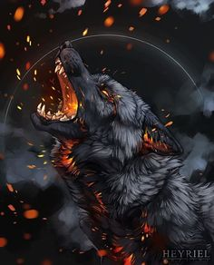 Excellent Absolutely Free anime wolf Ideas - New Ideas Dark Fantasy Art, Fantasy Wolf, Anime Fantasy, Wolf Craft, Rock Tattoo, Tiny Tattoo, Arm Tattoo, Demon Wolf, Wolf Artwork