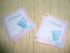 Tag Cartão Lembrancinha Gatinho