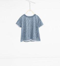 Maglietta stampata merletto-Collezione-BAMBINA   4-14 anni-NUOVI ARRIVI   ZARA Italia