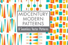 Ad: Mid-century Modern Retro Design Kit by Pacific Modern Art on Introducing the Mid-century Modern Retro Design Kit! This huge bundle includes all 8 volumes of my mid-century modern design seamless Retro Pattern, Vintage Sewing Patterns, Sewing Ideas, Pattern Design, Modern Retro, Midcentury Modern, Graphic Patterns, Modern Patterns, Posca Art