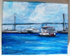 """""""Along The Savannah River"""" by Dimitri Walker 8"""" by 10"""" acrylic on canvas"""