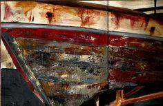 Barco de Corrubedo, Acrílico y espátula