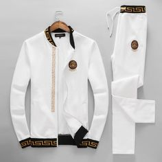 Versace Sport Outfit / Only Me 💋💚💟💖✌✔👌💙💚 xoxo Versace Suits, Versace Jacket, Versace Fashion, Versace Men, Versace Backpack, Swag Outfits Men, Stylish Mens Outfits, Casual Outfits, Fashion Outfits