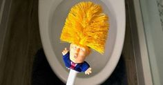 Donald Trump toilet brush promises to make toilets clean again, is the stuff of nightmares Image Comics, Donald Trump, Remove Trump, Laser Cut Paper, Toilet Brush, Toilet Cleaning, Lost Girl, Paper Cutting, How To Make