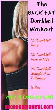 back fat dumbbell workout