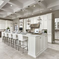 Trendy home is where the heart is picture 26 ideas Living Room Kitchen, Home Decor Kitchen, Interior Design Kitchen, Kitchen Ideas, Dining Room, Luxury Kitchens, Home Kitchens, Trendy Home, Kitchen Flooring