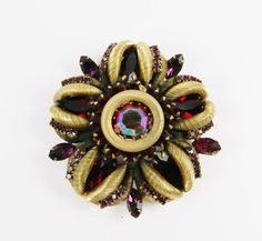 Magnificent Vintage Rhinestone Brooch High End by SparklyKreations