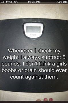 This is BRILLIANT!!  But in my case my boobs only count for bout .5pd lol