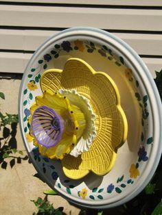 plate flower garden plate flower garden art by Adelicatetouch1