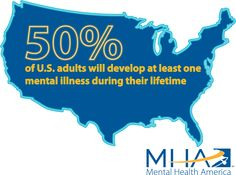 This isn't a made up statistic, it's a fact. Be supportive, get educated, and speak openly about mental health issues! #MIAW14 #B4Stage4 www.mhascreening.org