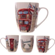 LONDON MUG SOUVENIR - London Sights Bone China Mug - mug106. l would love one of these wish l had of seen them when l was there.