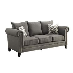 Coaster Company Emerson Sofa, Charcoal, Brown