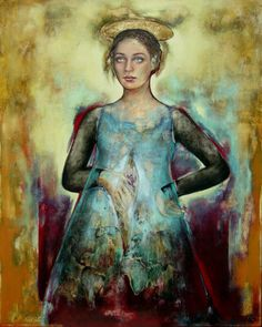 """Alessandra Binini lives and vora in San Polo d'Enza . Painting """" Chosen"""".In """"Chosen"""" the artist presents a series of works dedicated to the figure Madonna; first and foremost, the Madonna del Parto ."""