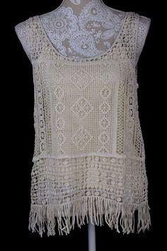 Lauren Ralph Lauren Petite Womens PM Medium Sleeveless Crochet Shirt & Tank Top #RalphLauren #TankCami #Casual