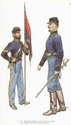 US Cavalry uniforms.