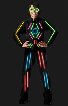 What's that eerie sight illuminating the dark night? Why it's you in the Light Suit Glow In The Dark Adult Costume! Great for Halloween, parties or anytime you need a little night time glow. Get creative and glow! Stick Figure Halloween Costume, Stick Man Costume, 80s Halloween Costumes, Dark Costumes, Boy Costumes, Costume Ideas, Awesome Costumes, Glow In Dark Party, Glow Stick Party
