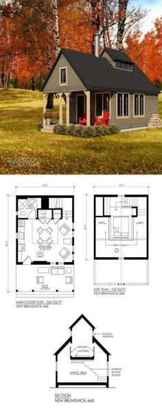 Shed Plans Tiny home New Brunswick Now You Can Build ANY Shed In A Weekend Even If You've Zero Woodworking Experience! Tiny House Cabin, Tiny House Living, Tiny House Plans, House Floor Plans, Tiny Home Floor Plans, Small House Plans Under 1000 Sq Ft, 1 Bedroom House Plans, Guest House Plans, Unique House Plans