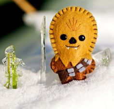 Chewbacca Pocket Plush Toy or cool felt badge pin brooch for geeks very cute star wars lovers gift idea