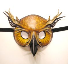 Handmade leather animal masquerade masks