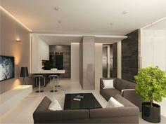 Kleines Wohnzimmer Mit Essbereich Modern Einrichten Beige Weiß ... Wohnzimmer Einrichten Beige