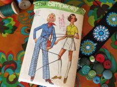 1970s Separates Pattern  Vintage Simplicity 8759  by ErikawithaK, $7.00